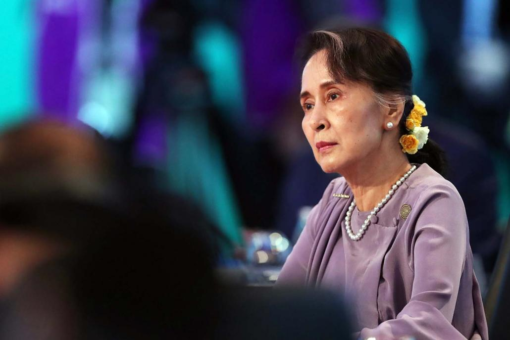 State Counsellor Daw Aung San Suu Kyi refused to replace U Kyaw Win because, sources say, she considered him loyal and hardworking. (AFP)