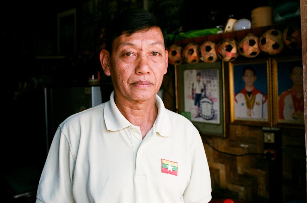 Decorated chinlone veteran U Maung Maung, who began playing at 11 and turned professional at 17.