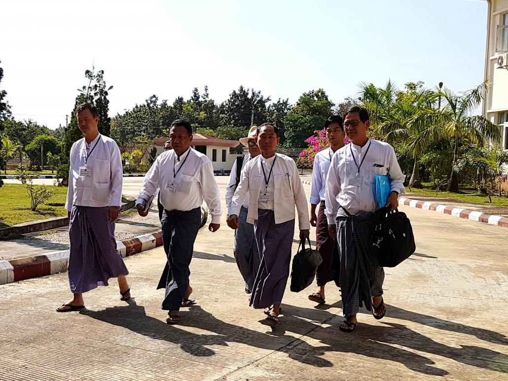 U Ko Ko Gyi with other members of the Four Eights Party in Nay Pyi Taw. (Nyan Hlaing Lynn | Frontier)
