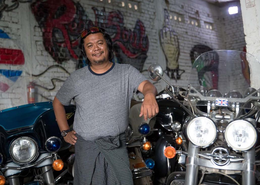 Ko Lynn Ko Ko Tint's passion for motorcycles was sparked by American rock and roll culture and his grandfather's cousin, a tough-as-nails biker. (Nyein Su Wai Kyaw Soe | Frontier)