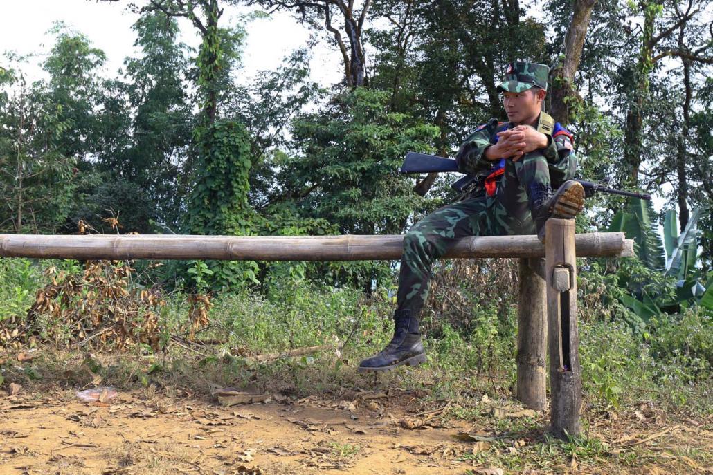 A Karen National Liberation Army soldier in Mutraw District. (Frontier)