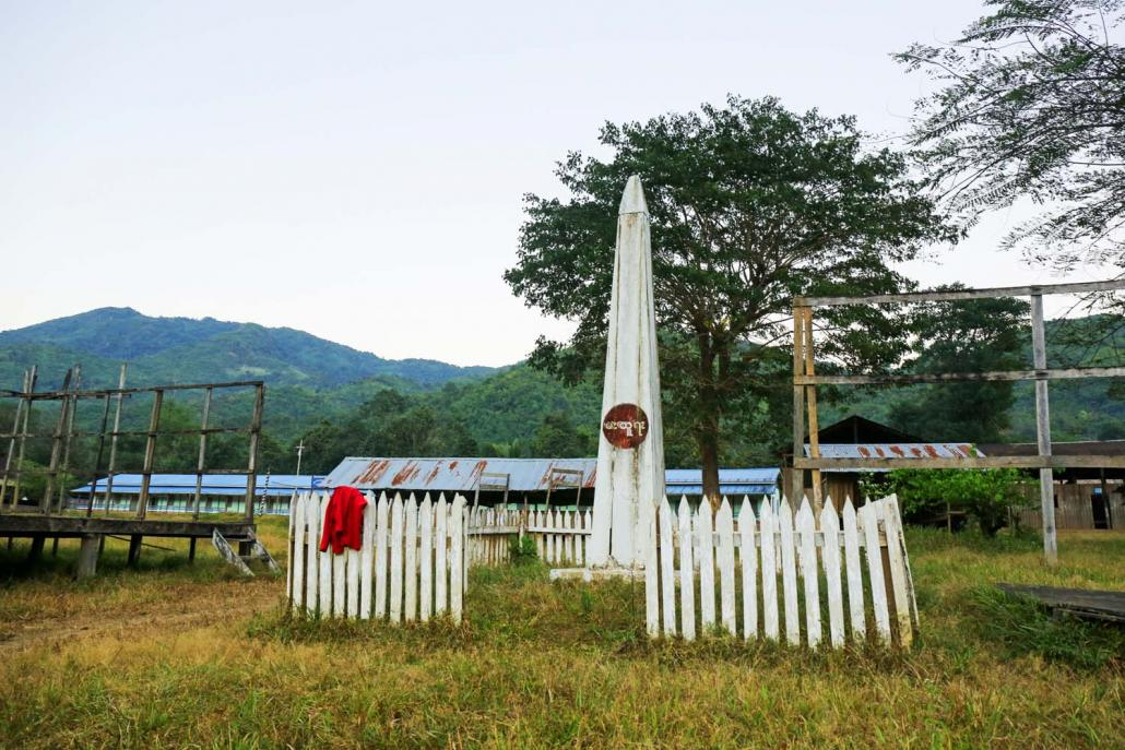 A Karen revolutionary monument in Day Bu Noh village. (Frontier)