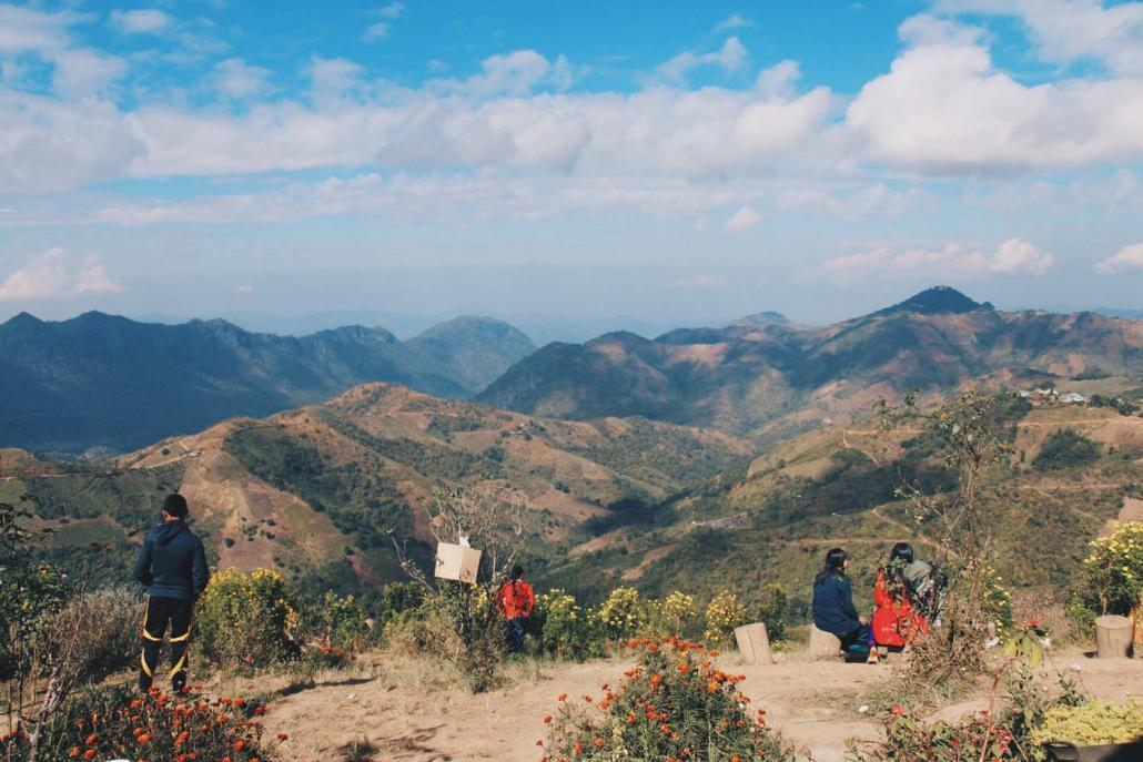 A viewpoint several hours' walk from Kalaw. (Nyein Su Wai Kyaw Soe | Frontier)