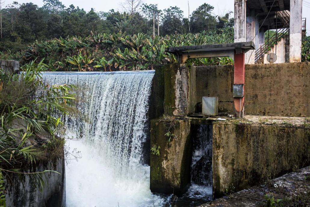 A small hydropower station operated by Buga Co Ltd that provides power to Laiza. (Hkun Lat | Frontier)