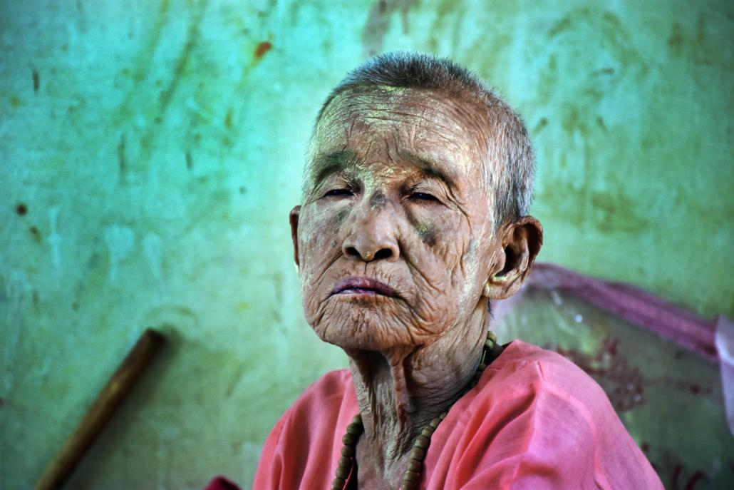 Amay Shan is the oldest resident at Hmawbi and has lived there since the centre opened in 2003. (Steve Tickner | Frontier)