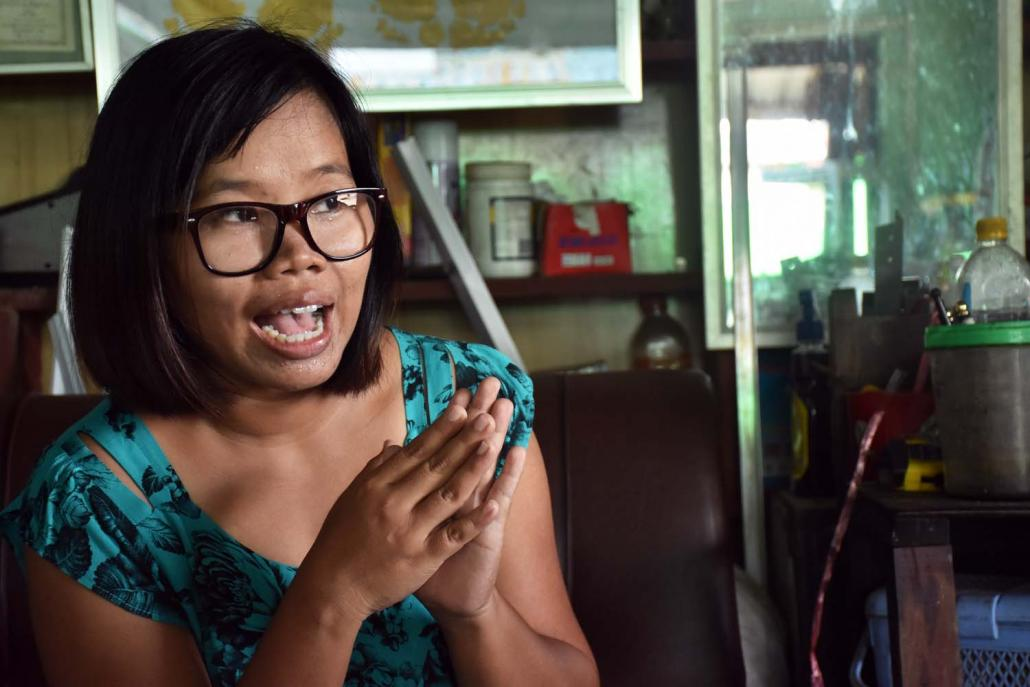 Ma Eithinzar Kyaw invested in a traditional savings and loan scheme in order to create some capital to expand her family business, but instead ended up losing K40 million. (Steve Tickner | Frontier)