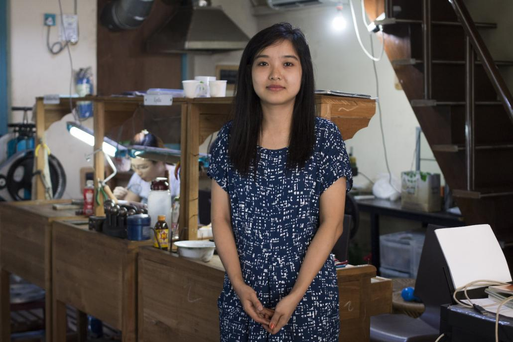Naw Magnolia is one of three women trainees taking part in a two-year goldsmithing course organised by NGO Turquoise Mountain (Nyein Su Wai Kyaw Soe | Frontier)