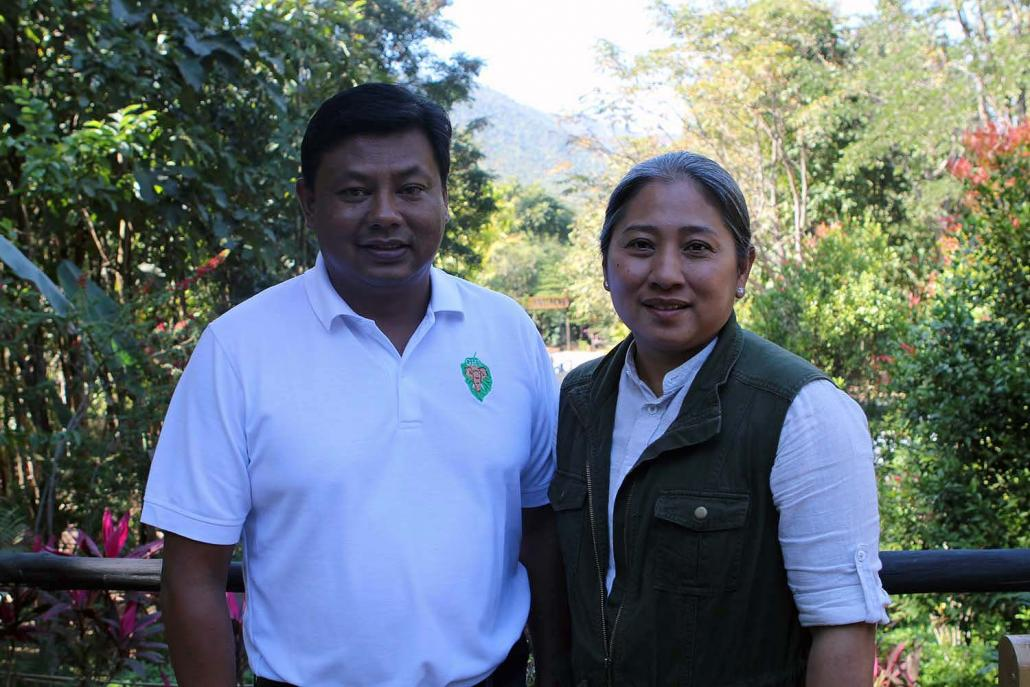 Daw Tin Win Maw and husband U Htun Htun Wynn, who started Green Hill Valley together with relative U Ba Kyaw Than in 2011. (Thomas Kean | Frontier)