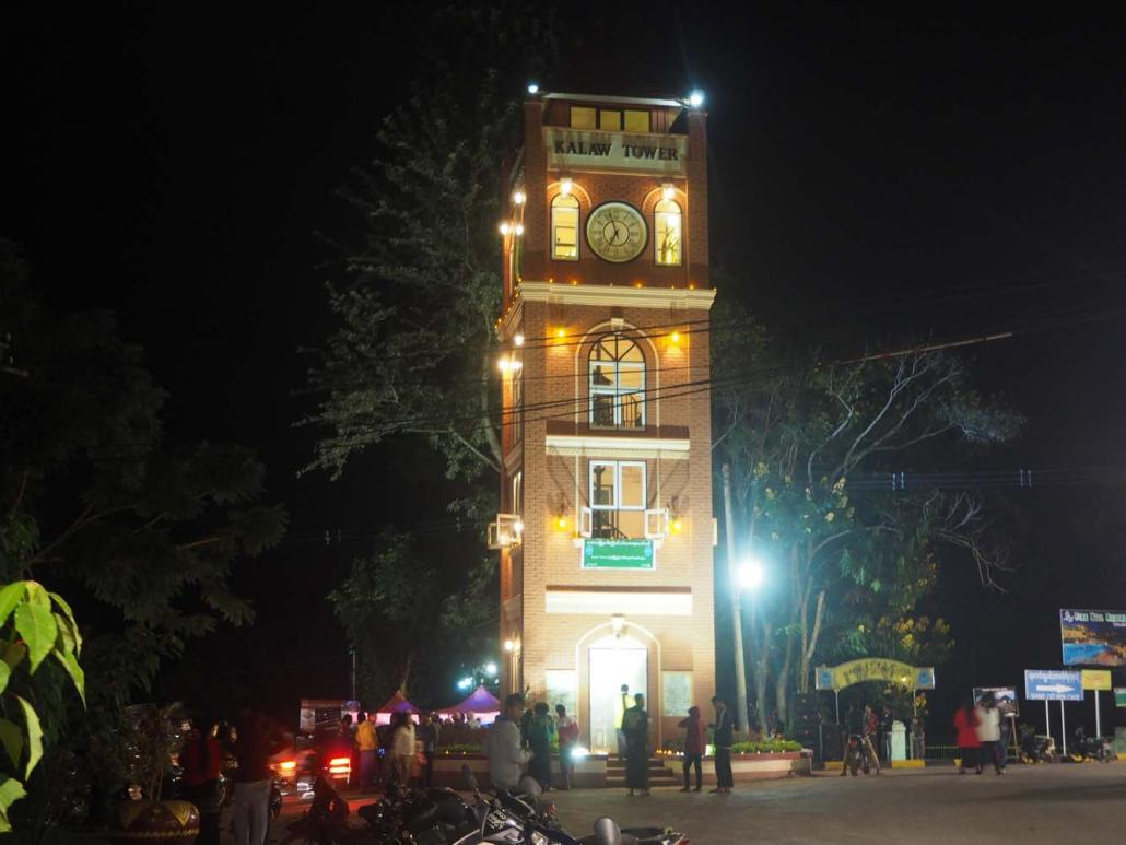 Two wealthy families with links to the tourism industry recently gifted Kalaw a 55-foot clock tower. (Ben Dunant | Frontier)