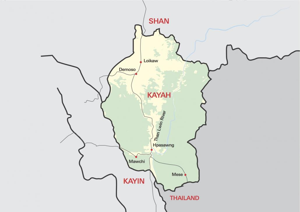 Map of Kayah State