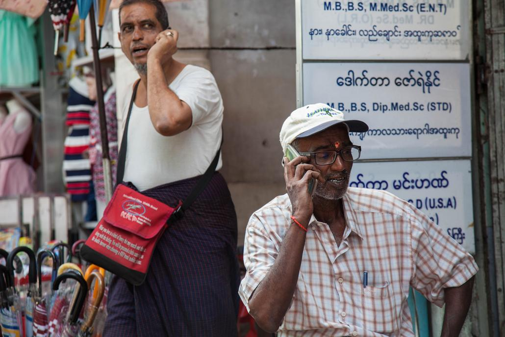 Data from statistics portal Statista.com shows that 34 percent of Myanmar's 53 million people are active users of social media, with most using Facebook. (Steve Tickner | Frontier)