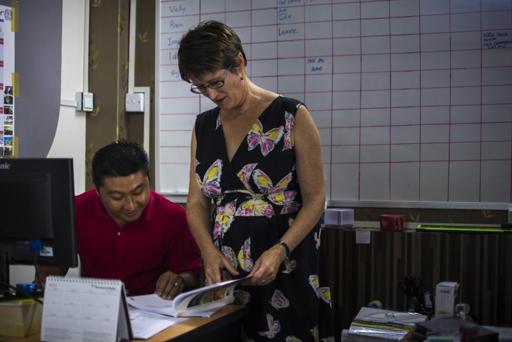 Vicky Bowman, director of the Myanmar Centre for Responsible Business. (Maro Verli / Frontier)