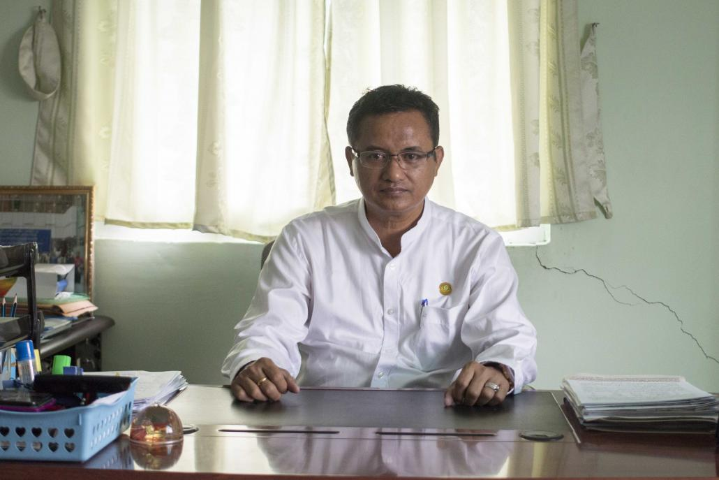 U Soe Aung, principal of Yangon's Institute of Sports and Physical Education, which was established in 1997. (Nyein Su Wai Kyaw Soe | Frontier)
