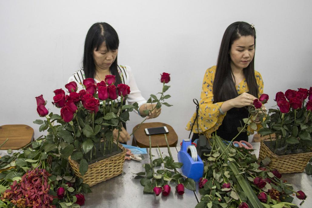 Students at the Khloris Flower School in Yangon. (Nyein Su Wai Kyaw Soe | Frontier)