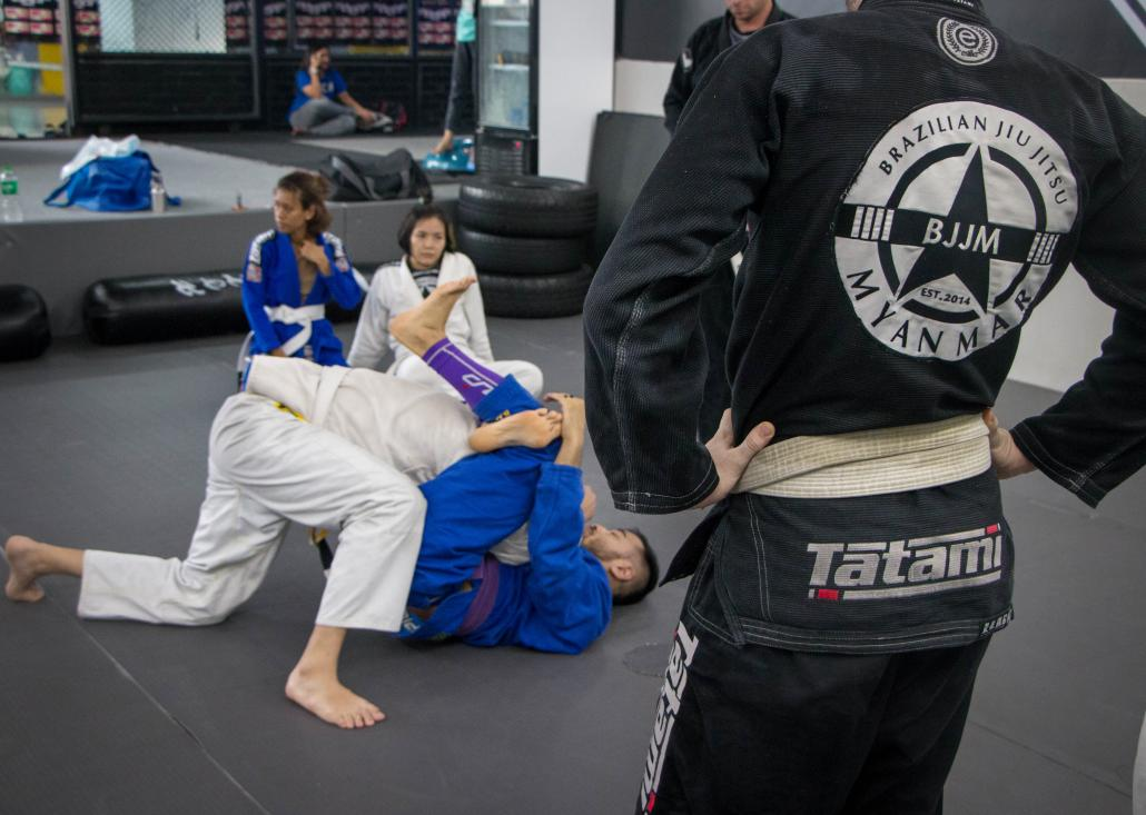 In Brazilian jiu jitsu, a smaller grappler can defeat a larger one with superior technique, outthinking their opponent with strategies that more closely resemble chess than brute violence. (Thuya Zaw | Frontier)