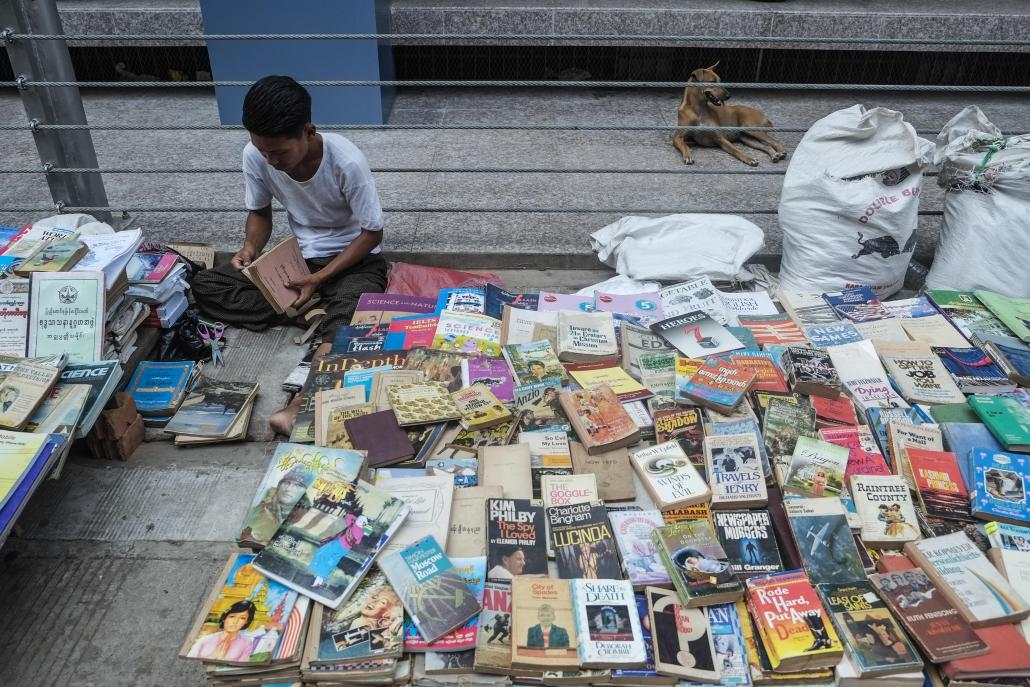 Experts blame Myanmar's harsh censorship rules for the fall in the number of book translators in the country. (Teza Hlaing / Frontier)