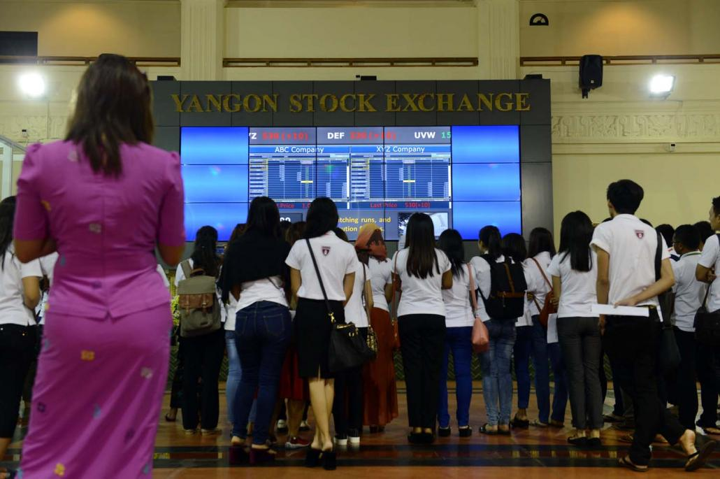 The Yangon Stock Exchange launched in early 2016 but lack of interest from investors means it is not yet a major source of financing for Myanmar companies. (AFP)