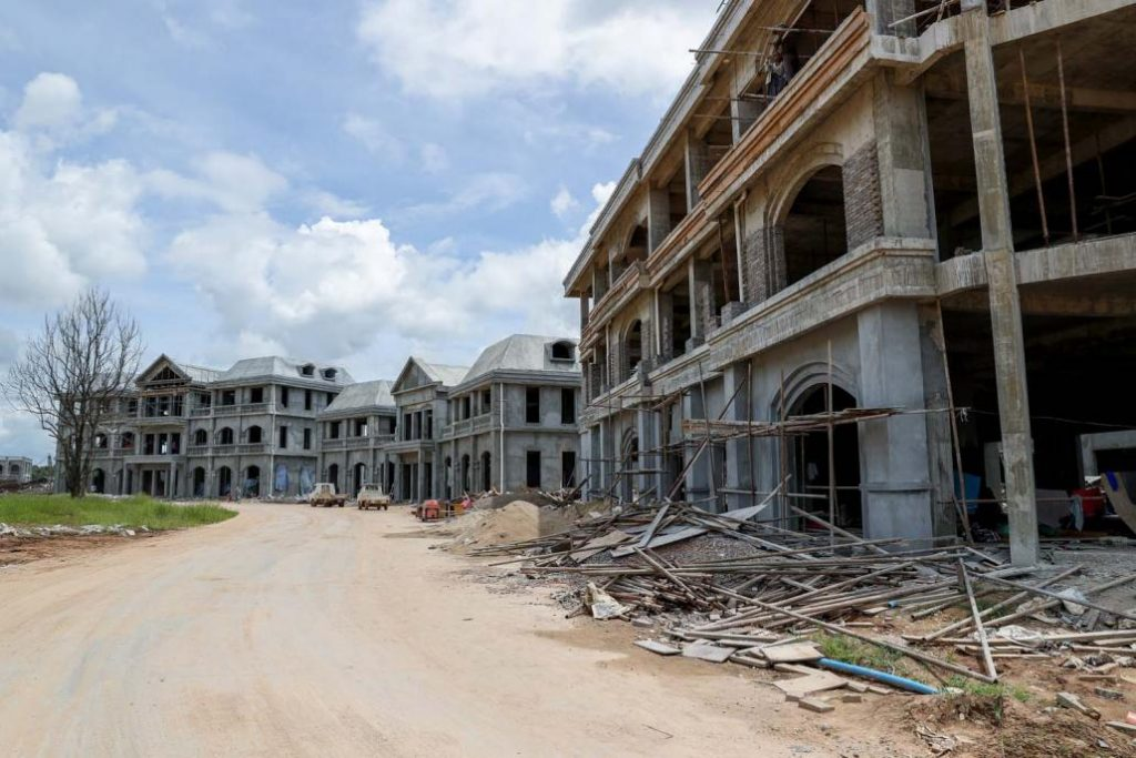 The government has approved a small housing estate project at Shwe Kokko but the BGF and Chinese investors have undertaken work far beyond this initial development. (Nyein Su Wai Kyaw Soe | Frontier)