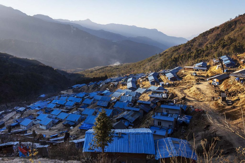 Hpare IDP camp, in a remote area controlled by the Kachin Independence Organisation, seen in January 2019. (Hkun Lat | Frontier)