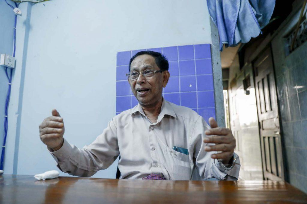 U Phoe Hlaing contested Yangon's Botahtaung Township constituency for the Muslim-led Democratic Human Rights Party in the 1990 general election. (Nyein Su Wai Kyaw Soe | Frontier)