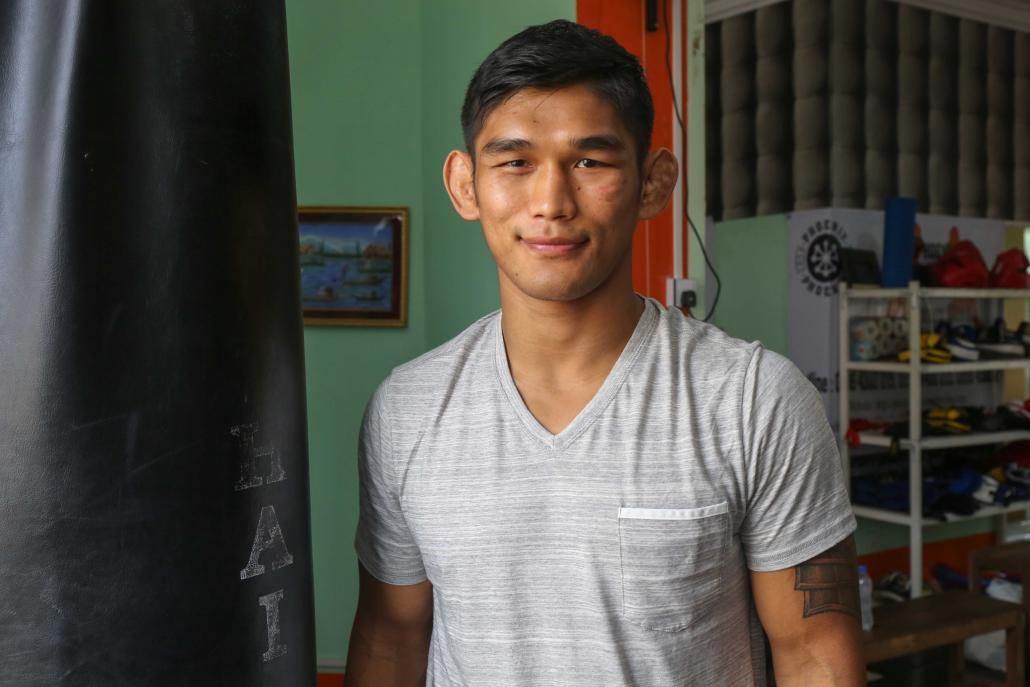 "/></p><p>In the end, he did neither. Aside from landing a few solid punches, he spent much of the rest of the fight on his back. The aptly named ""Burmese Python"", as Aung La Nsang is known, wriggled his way out of the stronger Bigdash's clinch again and again, absorbing blows but refusing to submit.</p><p>The final decision was a no-question victory for Bigdash; Aung La Nsang had already left the ring when the referee announced the winner. But, remarkably, it was still the first time Bigdash had met an opponent who made it to the end of a fight.</p><p>Afterwards, Aung La Nsang told me that he was underprepared for the fight but had jumped at a ""shot for the middleweight gold"". ONE had only offered him the bout two weeks beforehand, after the original contender dropped out due to injury. Aung La Nsang trained for just 10 days.</p><p>Despite the loss – and physical punishment – Aung La Nsang said he was glad he took that initial opportunity at Bigdash.</p><p>""It showed me what he's able to do,"" he said. ""Winning gives you confidence but losing gives you character.""</p><p>With a record of 19 wins and 10 losses, Aung La Nsang now has a second shot at becoming the first Myanmar MMA fighter to win a major promotion weight class. Mr Loren Mack, vice president for ONE public relations, said this could be Aung La Nsang's best opportunity to secure a title.</p><h2 class="