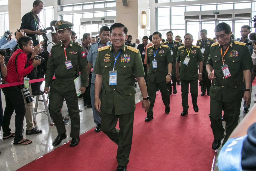 The Tatmadaw is likely to remain heavily involved in national politics despite the Standard Army transformation. (Nyein Su Wai Kyaw Soe | Frontier)