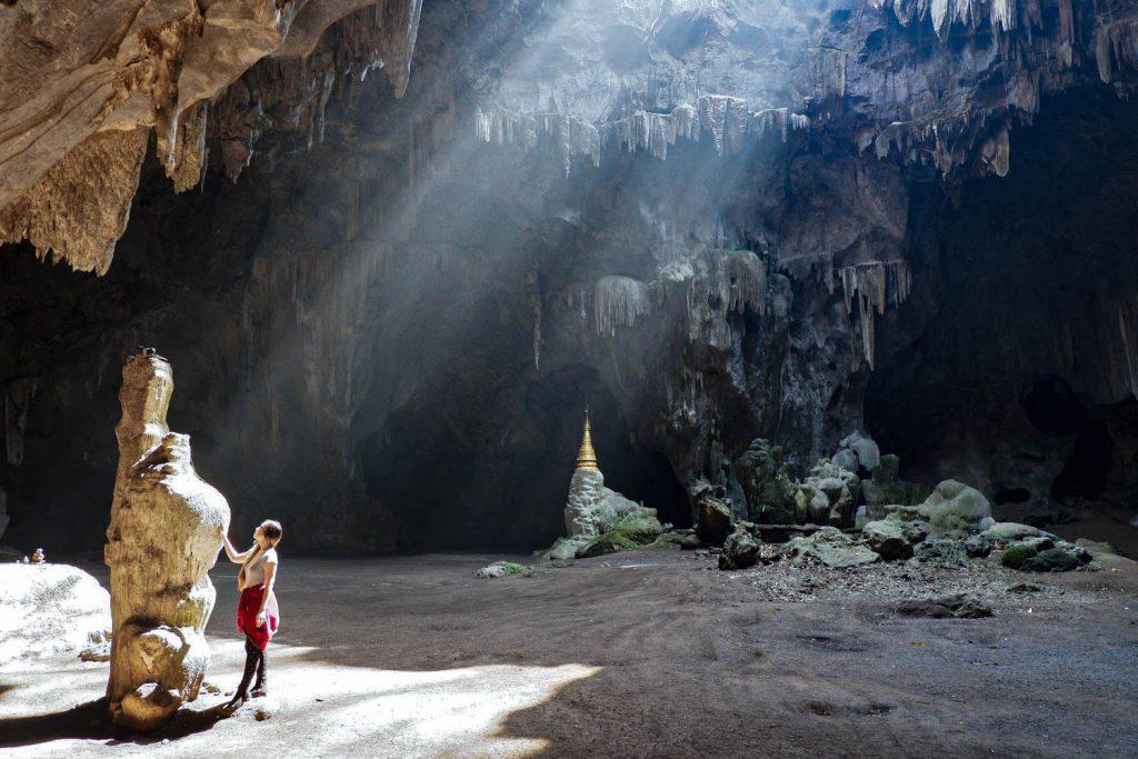 Exploring Padah-Lin Caves. (Dominic Horner | Frontier)