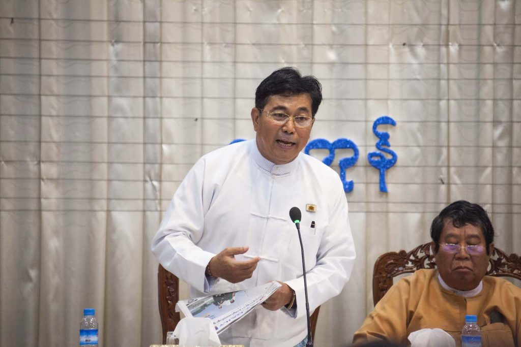 Rakhine ethnic affairs minister U Zaw Aye Maung has held his position in the Yangon Region government for a decade. (Theint Mon Soe | Frontier)