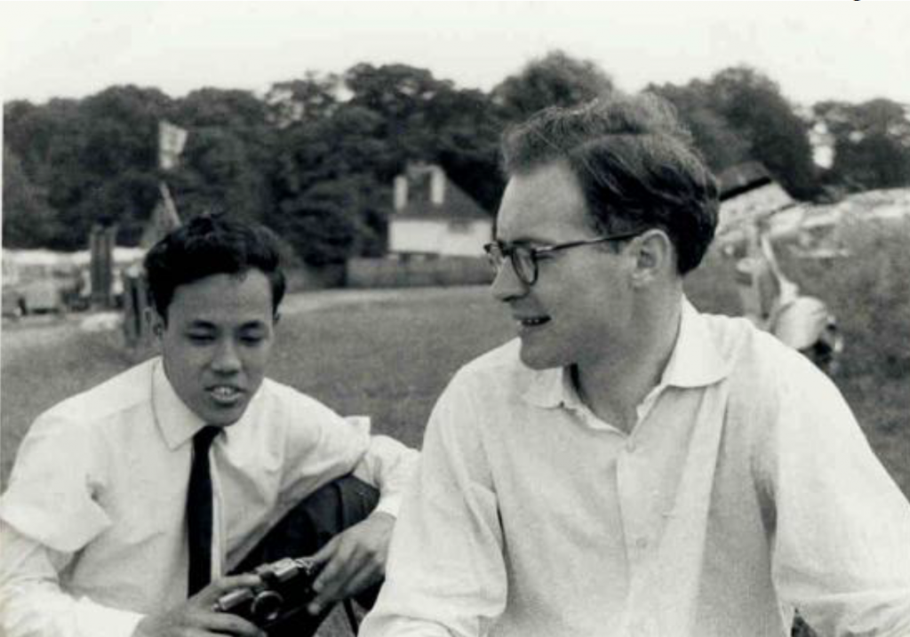 John Okell as a young linguist in 1967. (Supplied)