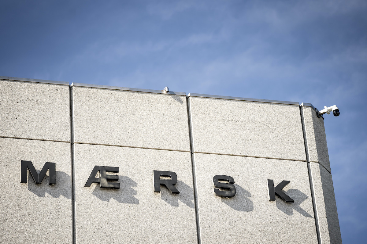The logo of the Danish shipping company AP Moeller - Maersk is pictured in Copenhagen on June 25. (AFP)