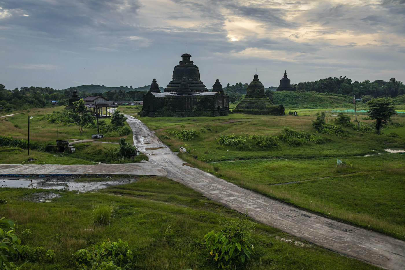 The Lay Myet Hna temple in Mrauk-U Township is seen on August 22. Voting in the November election has been canceled in the entire township, angering Rakhine politicians. (Hkun Lat | Frontier)