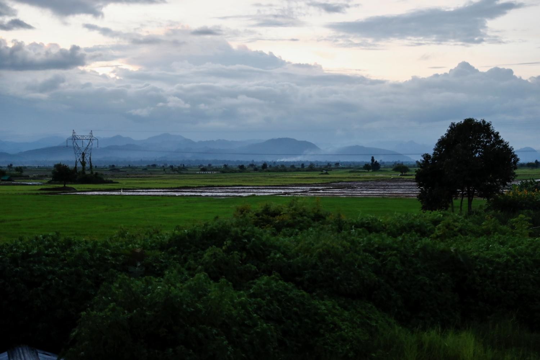 Rural Bawlakhe Township under a monsoon sky. (Nyein Su Wai Kyaw Soe | Frontier)