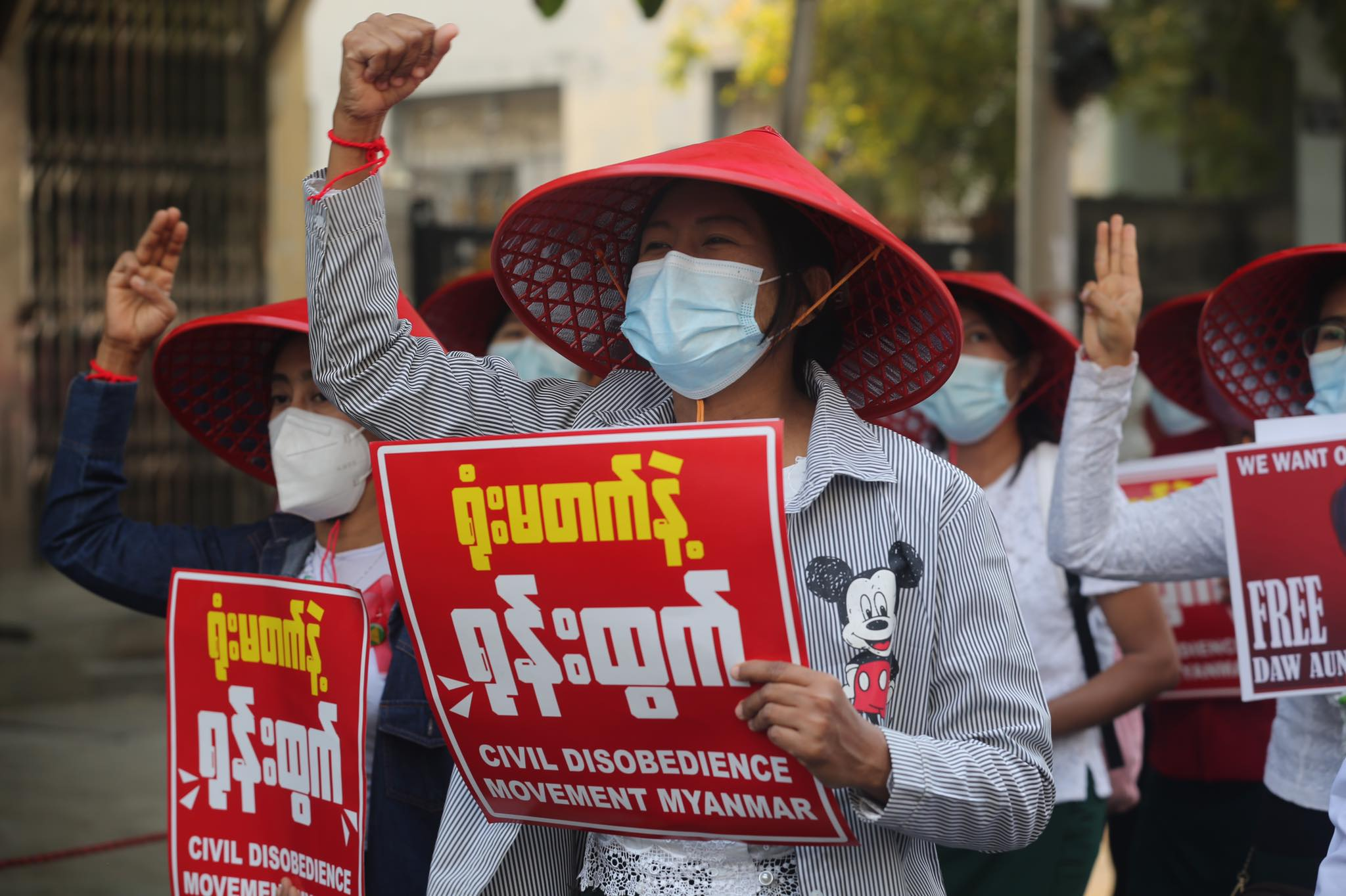 Some of thousands of protesters who took to the streets of Mandalay on March 2 despite security forces repeatedly killing demonstrators in the city. (Frontier)