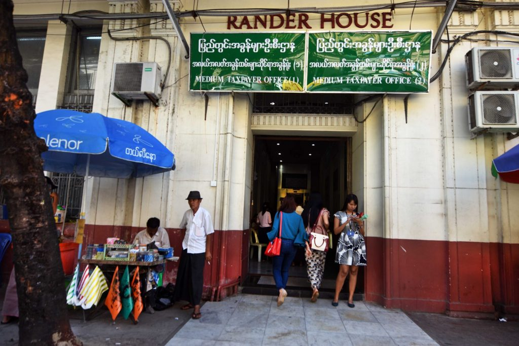 Rander House, home of the Internal Revenue Department in downtown Yangon. (Frontier)