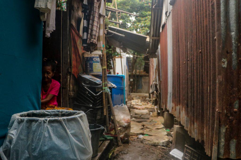 Slum dwellings in South Dagon, seen on April 2. (Frontier)