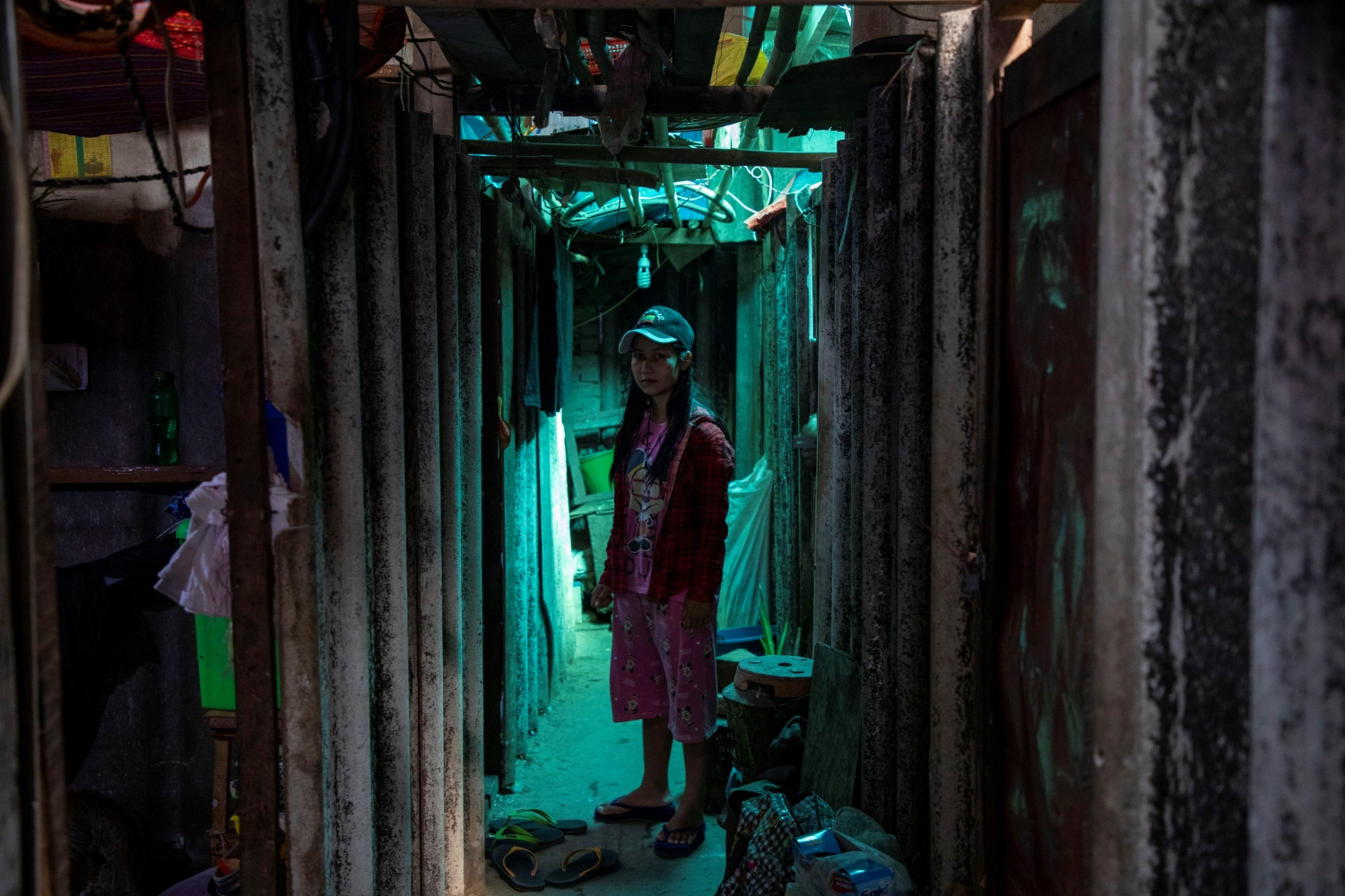 Ma Su Myat Nwe, pictured at her Hlaing Tharyar hostel, says she has not been able to find new work since being laid off by the Fu Tet Li garment factory in February. (Frontier)