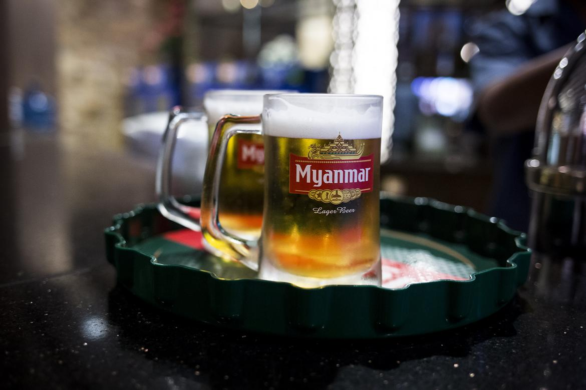 Myanmar Beer was the jewel in the military's brewing crown but sales have been hit significantly by a boycott since the February 1 coup. (Frontier)