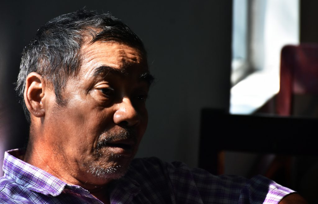 Kyoe Kone resident Saw Kanarni grew up hearing his father's account of the 1949 massacre, in which a family member was butchered. (Frontier)