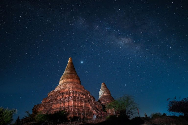 The temples of Bagan at night. (AFP)