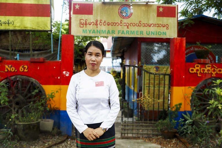 Myanmar Farmer Union founder Daw Su Su Nway. (Nyein Su Wai Kyaw Soe | Frontier)