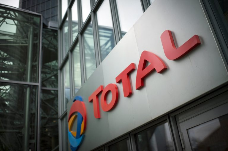 The logo of French energy company Total at its Paris headquarters. (AFP)