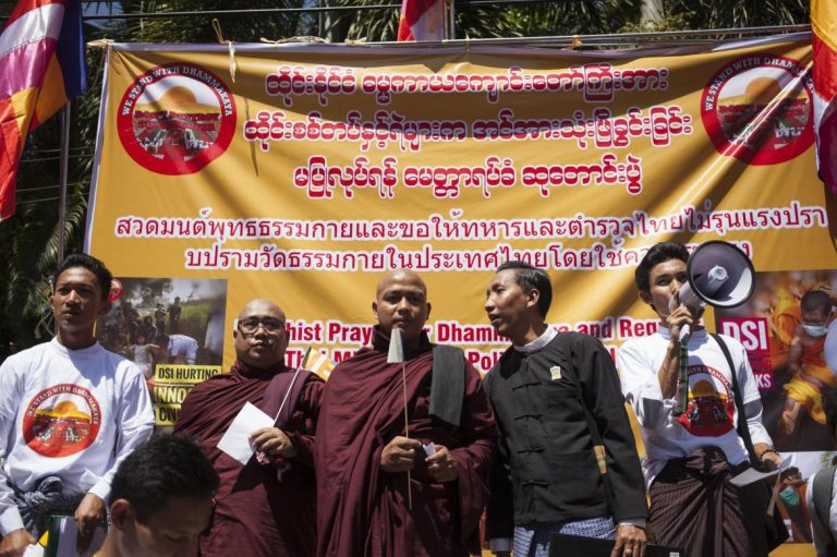 myanmar-monks-protest-raid-on-scandal-hit-thai-temple-1582219833