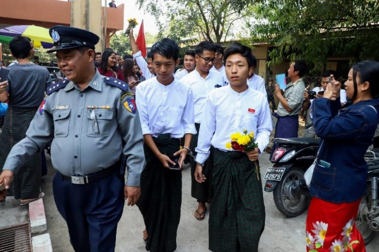 seven-students-sentenced-to-hard-labour-over-mandalay-protest-1582203610
