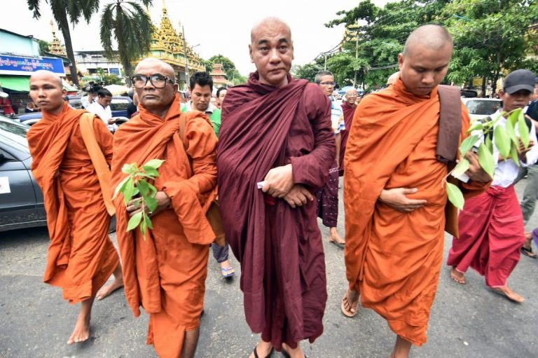 ultranationalists-show-support-after-wirathu-charged-with-sedition-1582201267